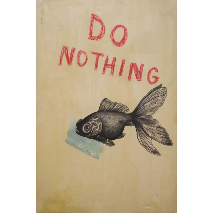 Do Nothing, Mixed on canvas by Bator Lech - Fp Art Online