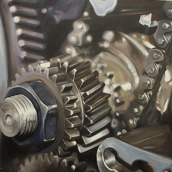 Engineone, Oil paint on canvas by Mini Daniele - Fp Art Online