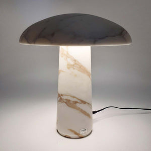 Mushroom Lamp, Calacatta marble, Cemmo Valencia marble, Arabescato marble by Up Group - Fp Art Online
