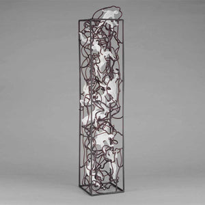 Human Tower Aquarium, Soft glass flamework sculpture by Bonaventura Mauro - Fp Art Online