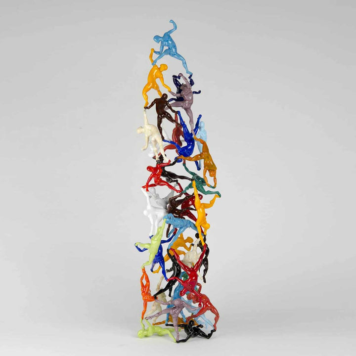 Human Tower, Soft glass flamework sculpture by Bonaventura Mauro - Fp Art Online