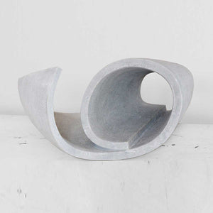 In Rotulo, Grey marble sculpture by Nurigiani Isabella - Fp Art Online