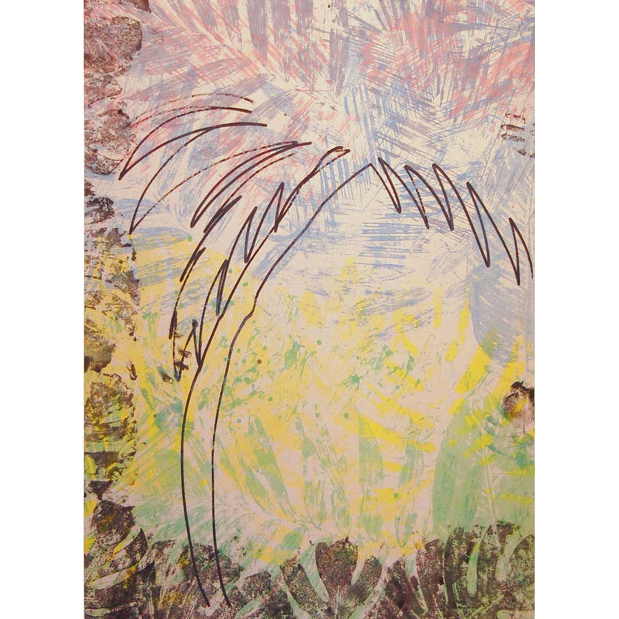 Untitled (Day Palm I), Oil on linen by Colon Nico - Fp Art Online