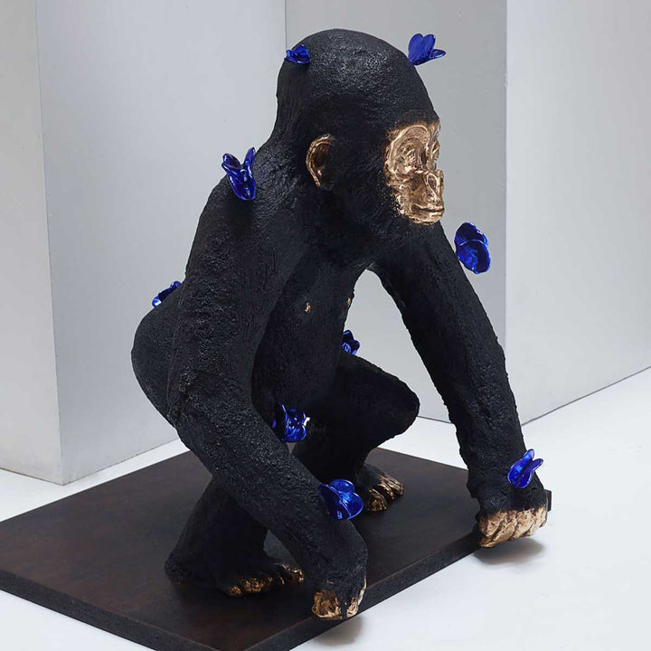 Petit Kong, Painted bronze sculpture by Berry Philippe - Fp Art Online