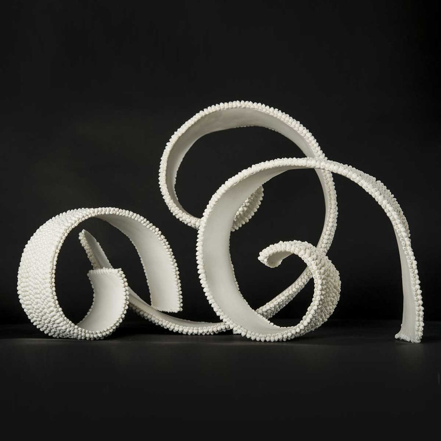 Tides Tryptic, Unglazed porcelain by Battista Emanuela - Fp Art Online