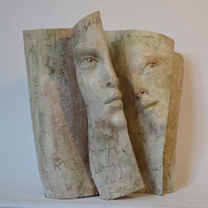 Another Vision, Terracotta sculpture by Grizi Paola - Fp Art Online