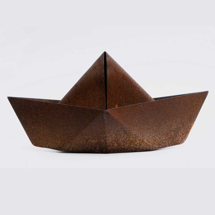 Barca, Corten steel sculpture by Bruni Francesco - Fp Art Online