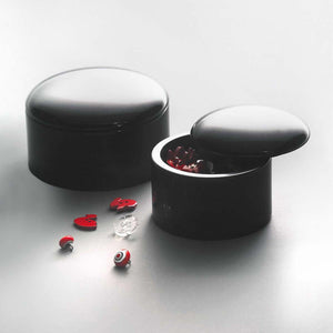 "Circular boxes in ""Belgium black"" finish by Up Group - Fp Art Online"