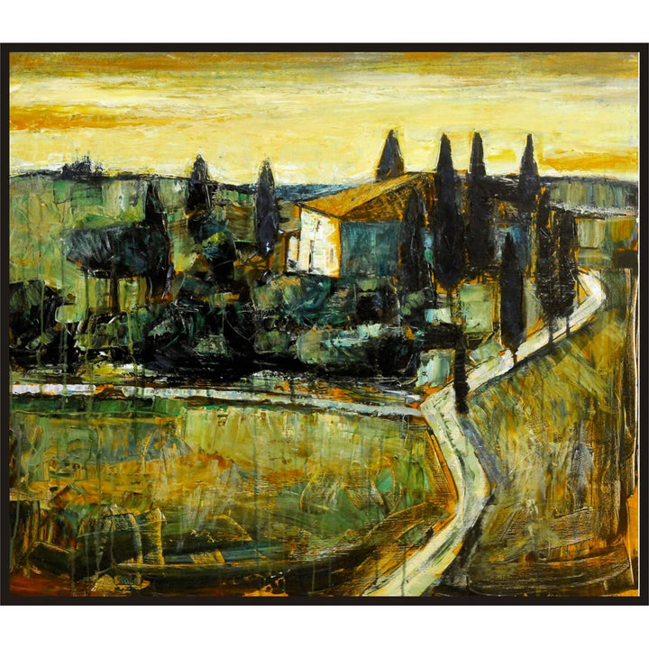 Campagna Toscana, Oil paint on canvas by Rolfi Claudio - Fp Art Online