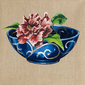 Bowl with Peony I, Oil on canvas by De Benedetti Benedetta - Fp Art Online