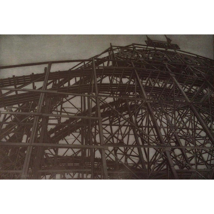 Coney Island 1, Etching print mark by Chiesi Andrea - Fp Art Online
