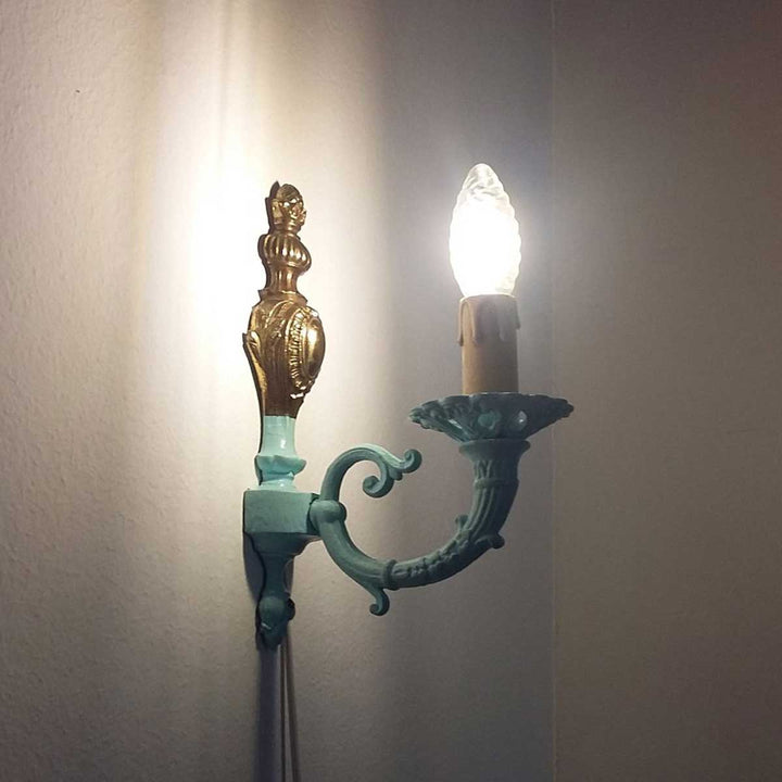 Fero, Antifouling painting on an old lamp by D'Elia Davide - Fp Art Online