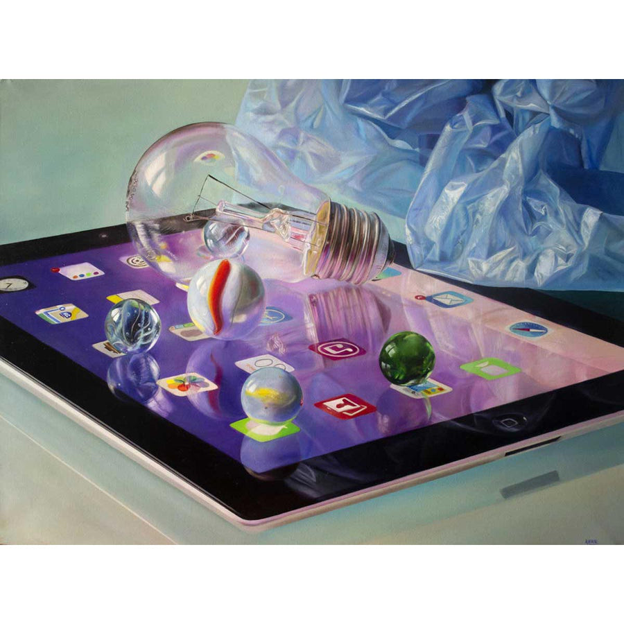 Games, Oil paint on canvas by Ariatta Bernardo - Fp Art Online