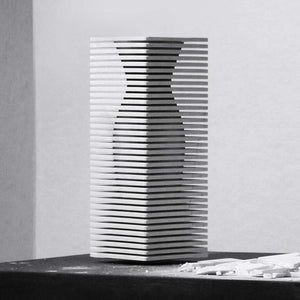Introverso 2, White Carrara marble vase by Ulian Paolo - Fp Art Online