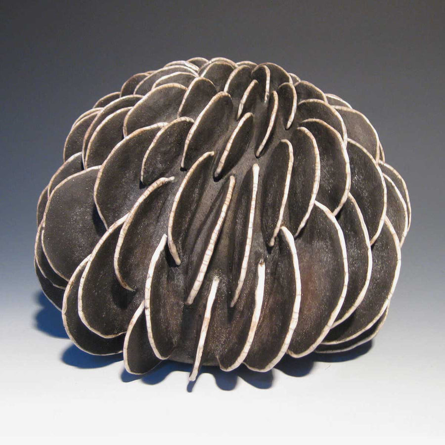 Madrepora II, Raku ceramic sculpture by Miranda Rita - Fp Art Online