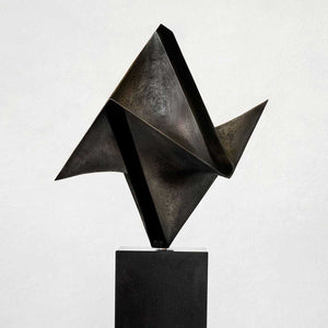 Origami, Bronze black granite base sculpture by Vélez Gustavo - Fp Art Online