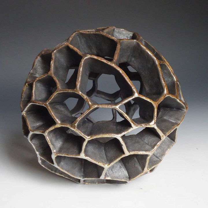 Seeds II, Raku ceramic sculpture by Miranda Rita - Fp Art Online