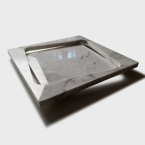 Slide, Square Marble Tray by Ulian Paolo - Fp Art Online