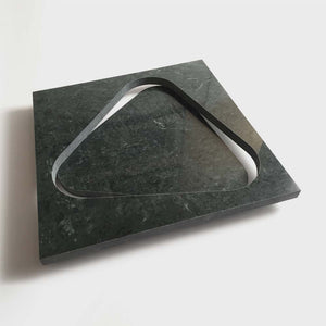 Slide, Triangular Marble Tray by Ulian Paolo - Fp Art Online