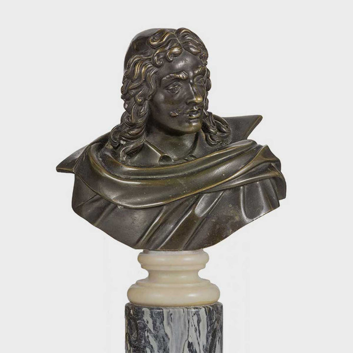 Bronze bust of a nobleman by Antiques - Fp Art Online