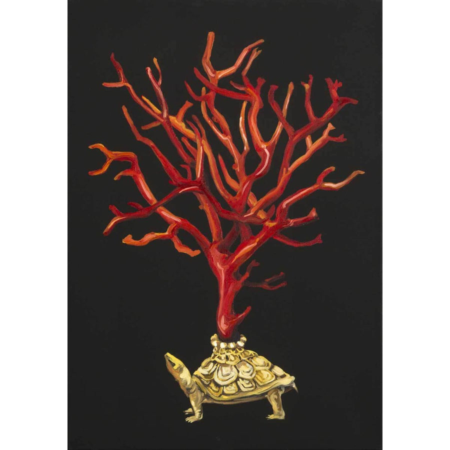 Turtle with Corals, Oil on canvas by De Benedetti Benedetta - Fp Art Online