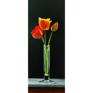 Tulips, Oil paint on canvas by Giraudo Riccardo - Fp Art Online