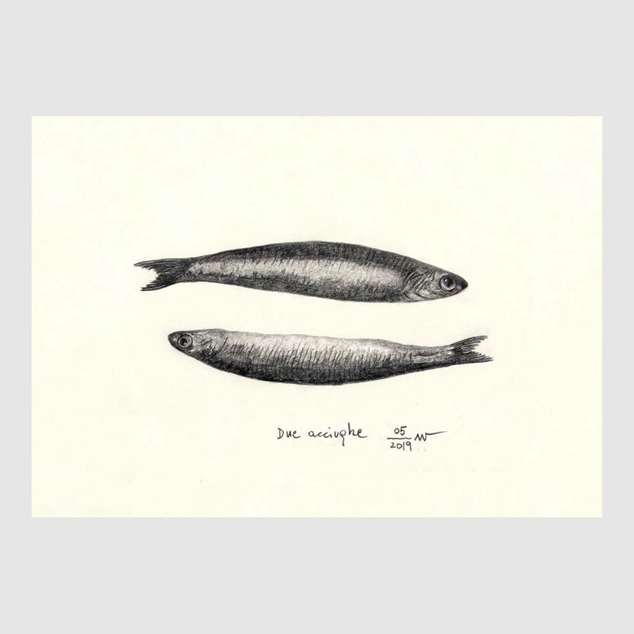 Two Anchovies Placemat (b&w)