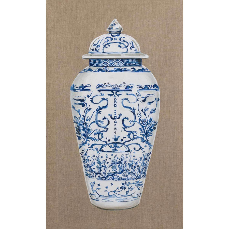 Chinese Vase - Blue II, Oil on canvas by De Benedetti Benedetta - Fp Art Online