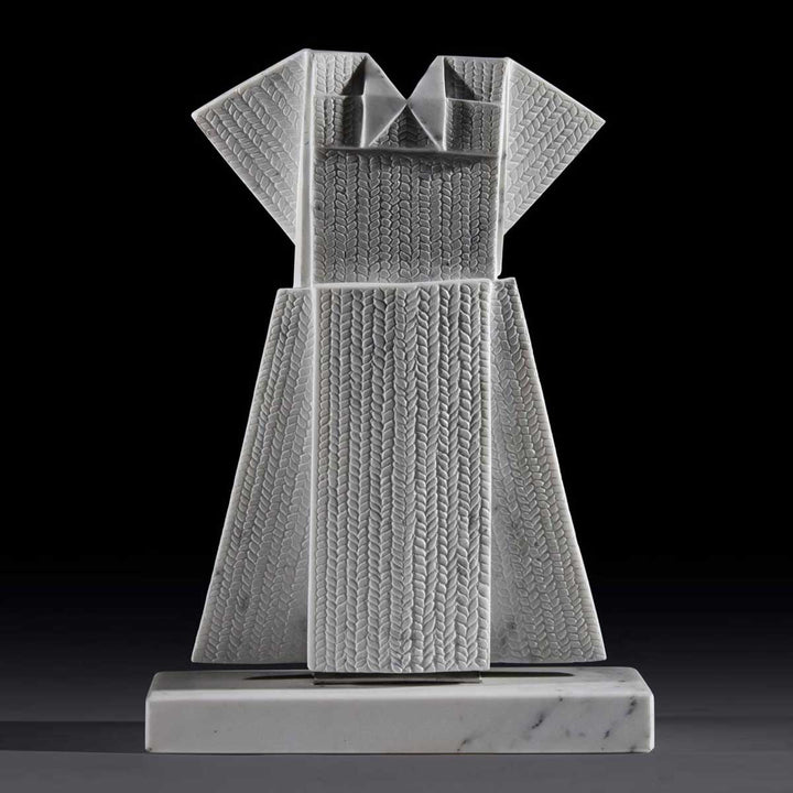 Vestito Maglia, Carrara Statuary marble sculpture by Mayer Tasch Verena - Fp Art Online