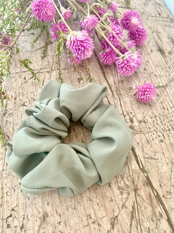 Khaki Hair Scrunchie