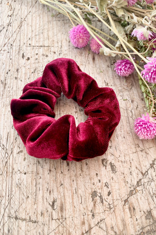 Red Velvet Hair Scrunchie