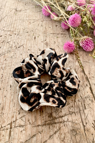 Snow Leopard Hair Scrunchie