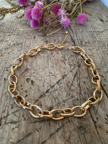 Solid Gold Necklace-Thin