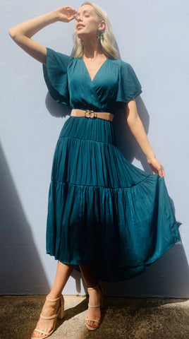 Charlotte dress- Emerald Green