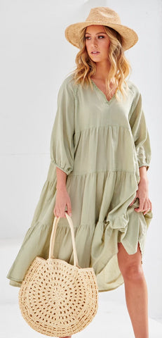 Harris Oversized Midi Dress