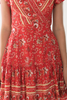 Isabella Paisley Wrap Dress- Red/Bronze