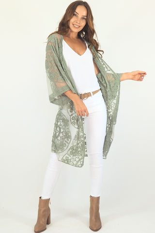 Fleetwood lace cape- Khaki