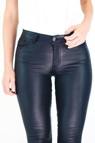 Luxe Wet Look Jeans