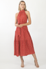 Amelia Maxi Dress- Rusty Red