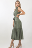 Amelia Maxi Dress- Dusty Green