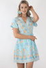 Isabella Wrap Dress- Light blue
