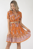 Harper Dress - Rust