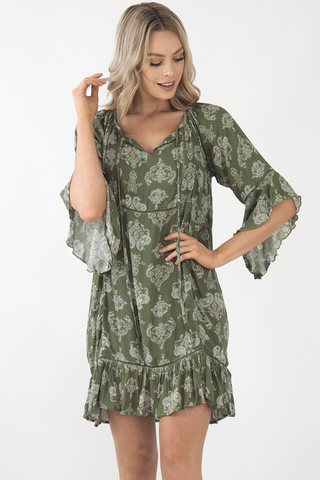 Maddison Dress- Khaki