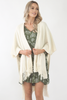 Knit poncho- Cream