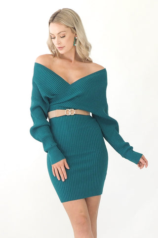 Chloe Dress- Forest Green