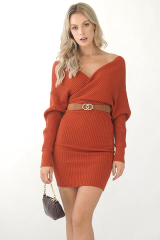 Chloe Dress- Rust