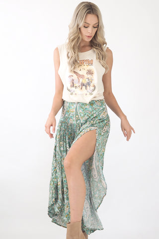 Tash Maxi Skirt- Green