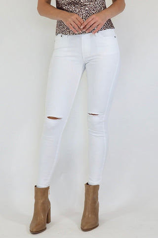 Cara Ripped Jeans (White)