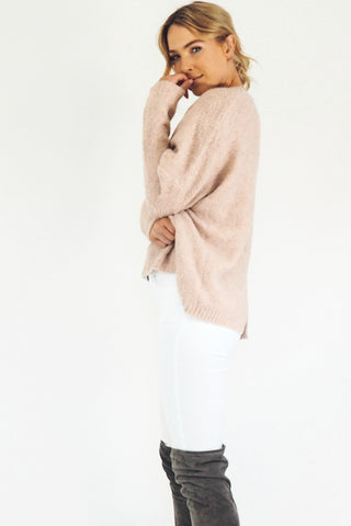 Woolly Juniper Jumper (Dusty Pink)