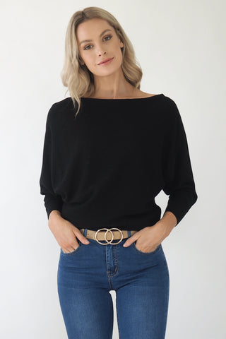 Kenzie knit top - Black